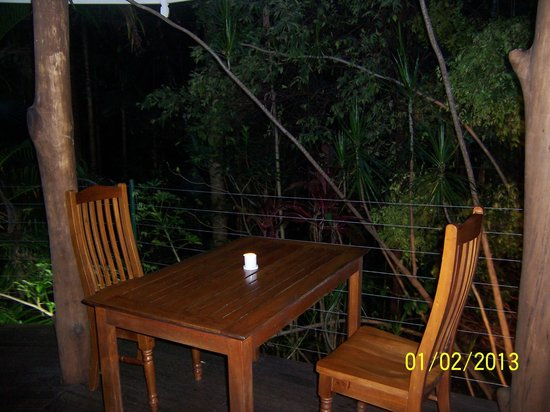 Amazing Wollumbin Palms Retreat at Mt Warning:                   Where we ate dinner each night
