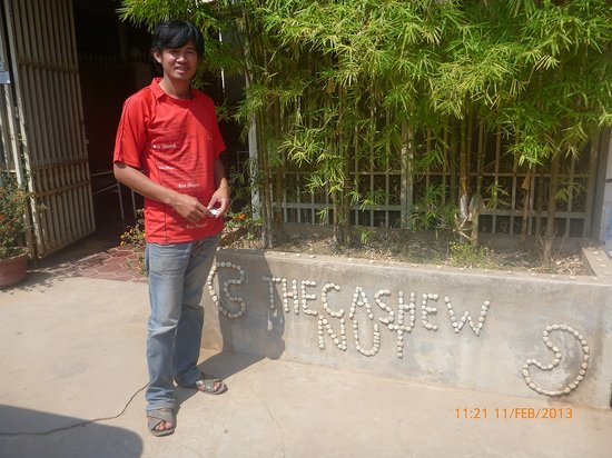 The Cashew Nut Guest House:                   Sam the tuk-tuk driver