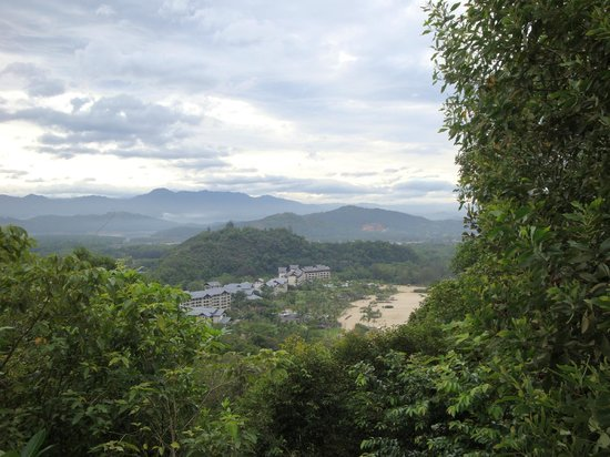 Shangri-La's Rasa Ria Resort & Spa: View from the top of the hill (of the park) during jungletrek