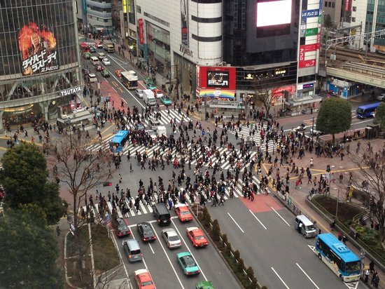 Shibuya Excel Hotel Tokyu:                   View from our Floor lobby near elevator