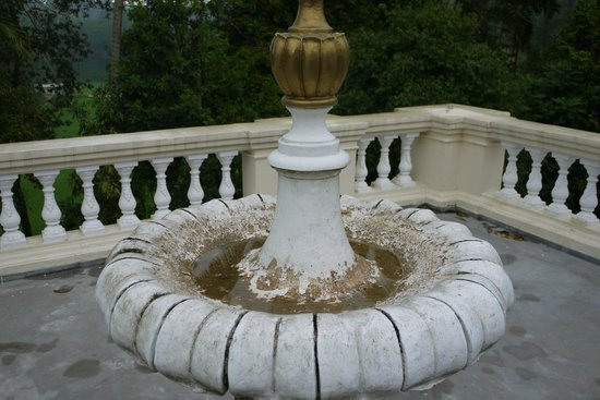 The Mansion:                   Filthy broken fountain