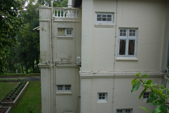 The Mansion:                   Outside view of delapidated state of room 202