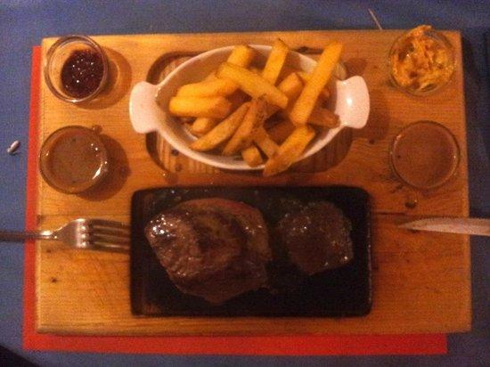 "Café Restaurant Chez John:                   Pave de Boeuf ""House Special"""