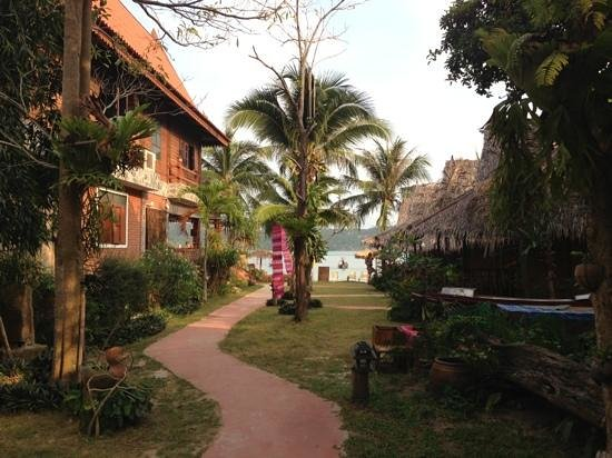 Baan Panburi Village At Yai Beach :                                     look from the cottages to the sea.