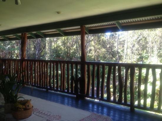 Aloha Crater Lodge:                   balcony view from bedroom door
