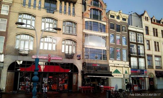 View of Pasta Bar from Damrak