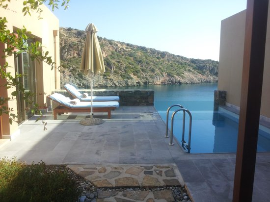 Daios Cove Luxury Resort & Villas:                                     View from courtyard of one bed villa