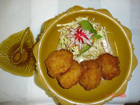 The Thai Orchid: Thai fish cake.