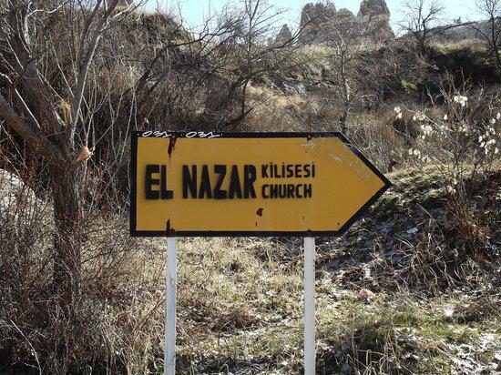 El Nazar Kilise:                   Sign board