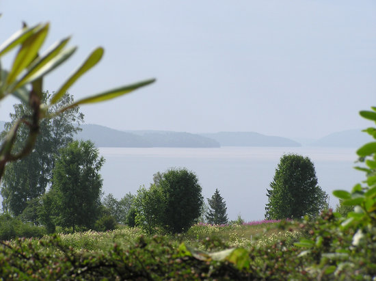 Rottneros, Suède : View from one of our decks