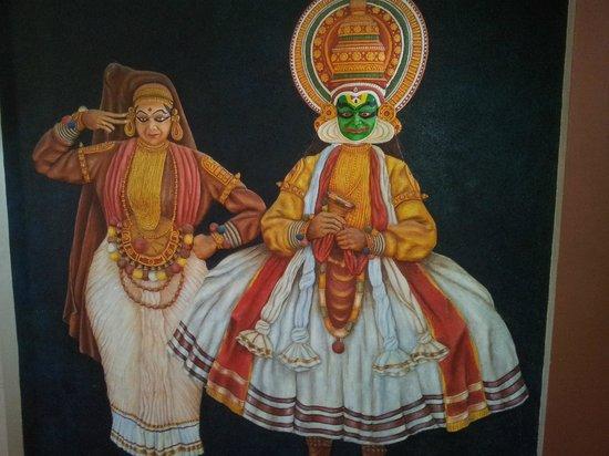 Uday Samudra Leisure Beach Hotel & Spa: Kathakali dancers picture