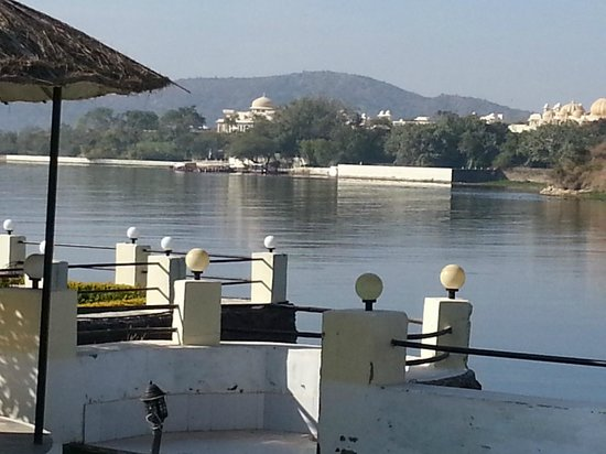 Shree Vilas Orchid:                   View of  Oberoi's Udaivilas from Shreevilas Orchid
