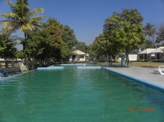 Shree Vilas Orchid:                   View from Cottages
