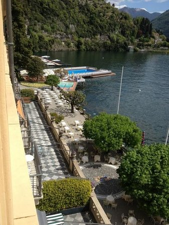 Villa d'Este:                   View from our room