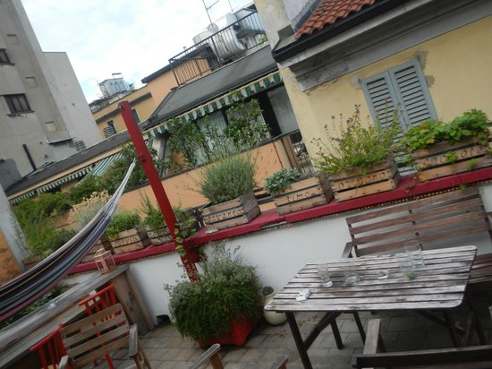 Ostello Bello: cute rooftop balcony