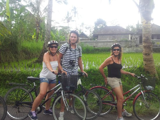 We Are Family Bali Cycling Tours:                   our small group minus me taking photo