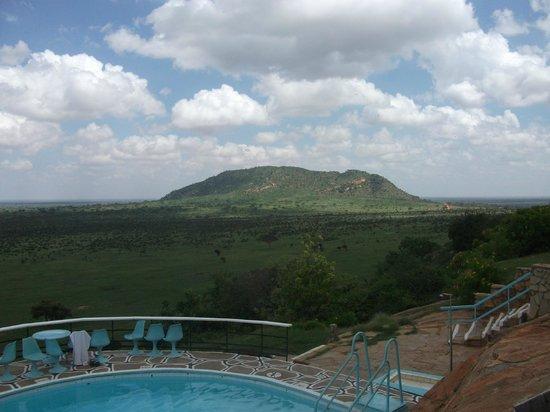Voi Safari Lodge:                   stunning view