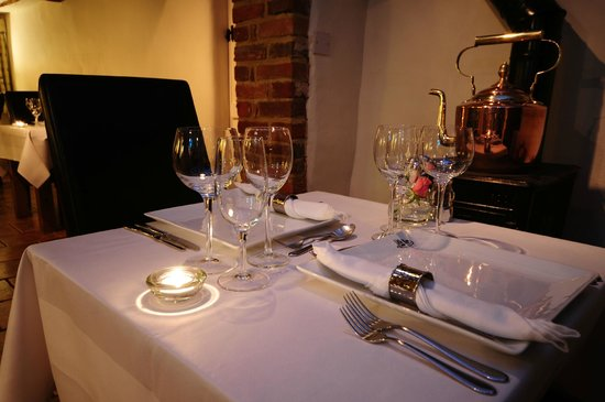 Little Mere Restaurant: Table setting