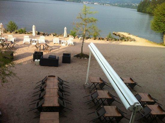 Appart'hotel Lido Gerardmer:                   La terrasse en période estivale
