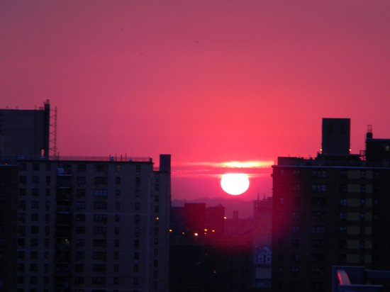 Hotel on Rivington:                   sunrise from balcony