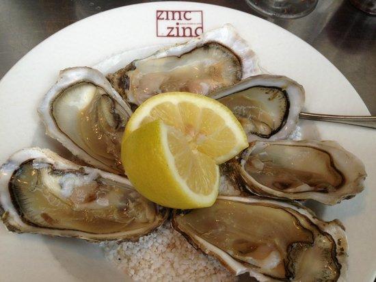 Zinc Zinc : Oysters