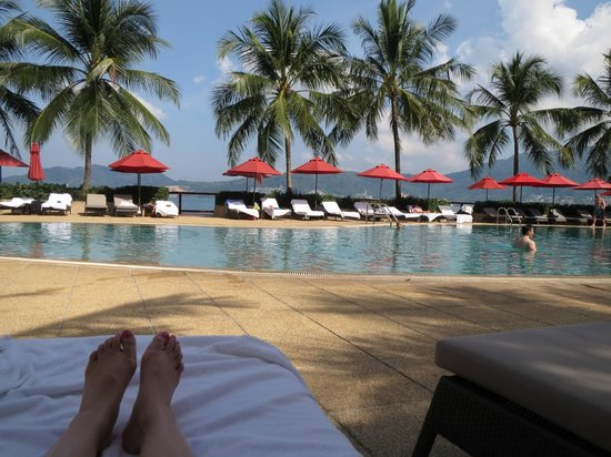 Amari Phuket:                   Relaxing by the pool