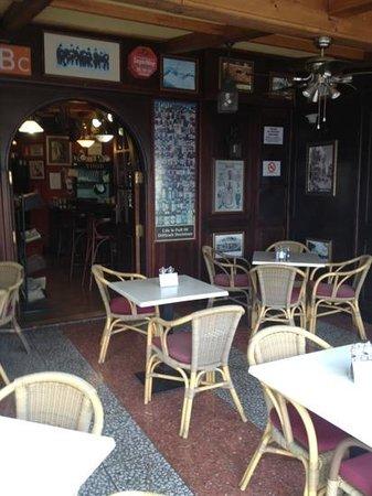 The British Bulldog:                                                                         Outside bar area