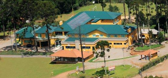Lagoa Vermelha, RS: Vista aérea do Lagoa Parque Hotel