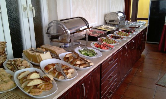 Amber Hotel:                   The daily morning breakfast  buffet