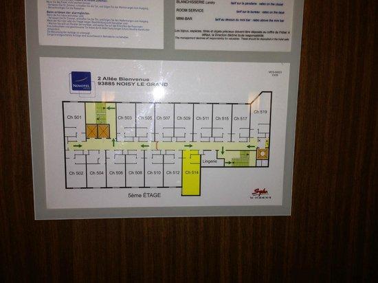 Novotel Marne La Vallee Noisy: Plan étage