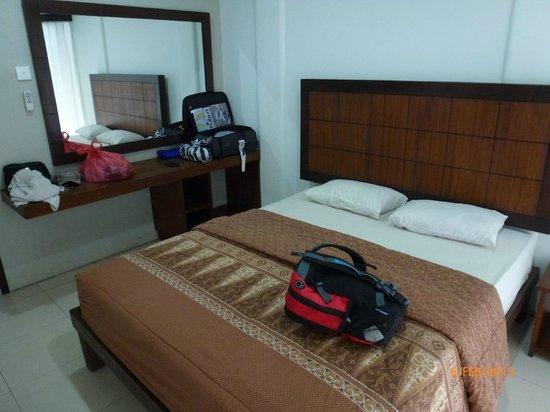 The Kubu Hotel:                   Bed