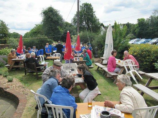 Hit or Miss:                   Beer Fest in garden