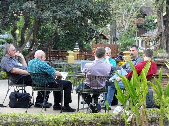 Suan Bua Hotel & Resort:                   Outside meeting