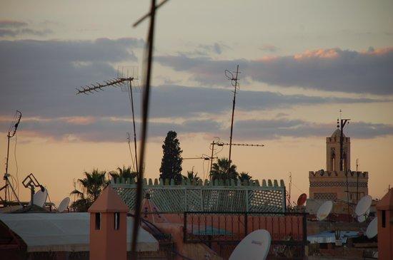Riad Chafia:                   Panorama dal riad