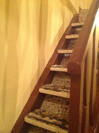 Hotel Trevi:                   stairs in room leading to bedroom