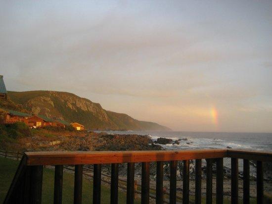 Tsitsikamma Lodge:                   Blick aufs Meer,Sonnenuntergang