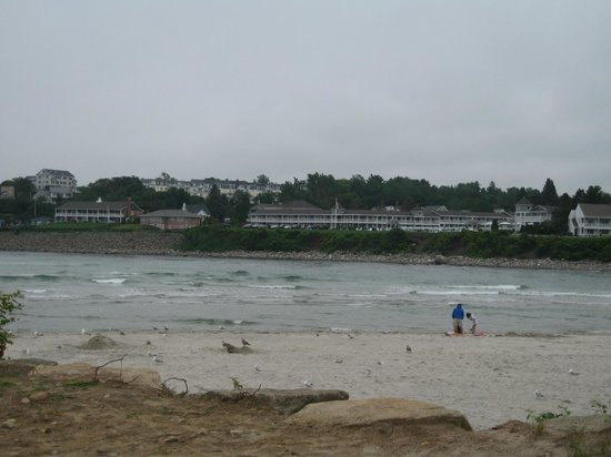 The Anchorage By the Sea:                   view of hotal from ogunquit beach