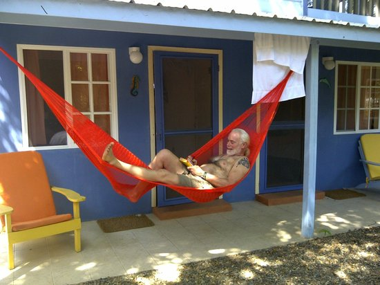 Placencia Villas:                   Everyone gets an outdoor hammock