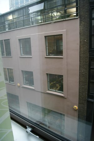 Tune Hotel - London, Liverpool Street:                   View from the room's window