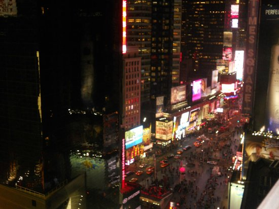 Nighttime view of Times Square from our Room