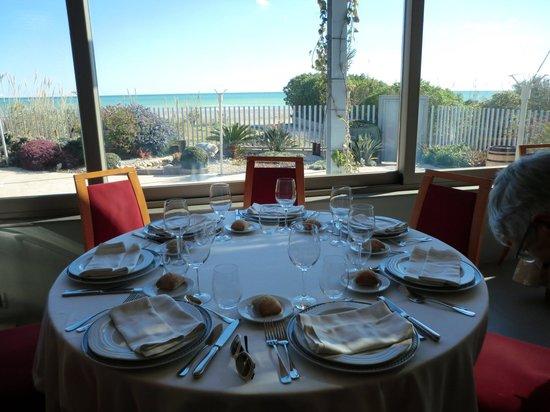 Restaurante Chuanet:                   nuestra mesa con vistas
