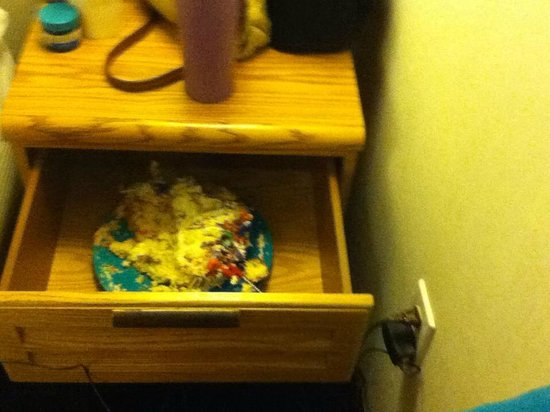 Econo Lodge South:                                     5 year old found a half eaten cake in night stand. (no joke)