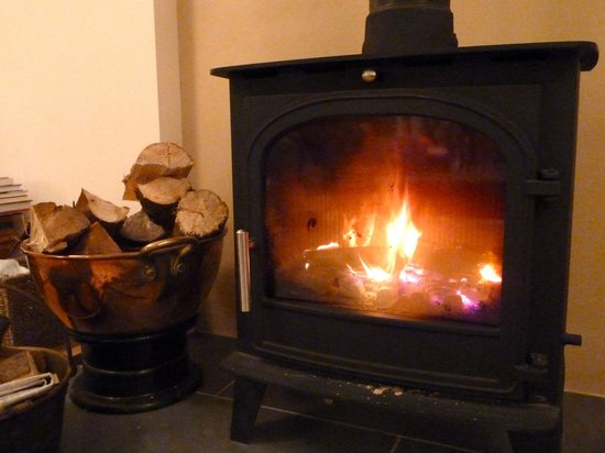 Hendersyde Farm Cottages:                   Cosy wood burning stove in the lounge