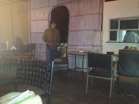 Chitra Katha:                   rooftop restaurant at night