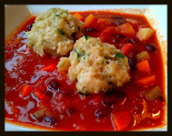 Josef's Vegetarian Cafe:                   Josef's Vegetable Goulash with Parsley Dumplings...So Tasty!