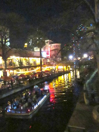 San Antonio River:                   A Saturday night stroll.