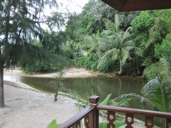 Am Samui Resort:                   River right next to bungalow A19