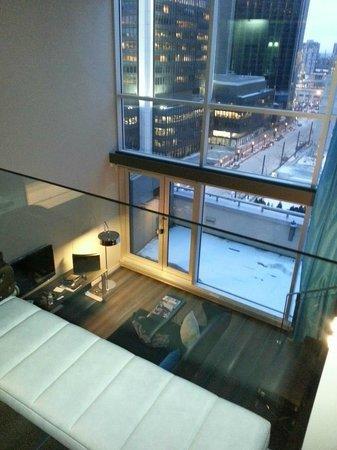 W Montreal:                   depuis la chambre                 