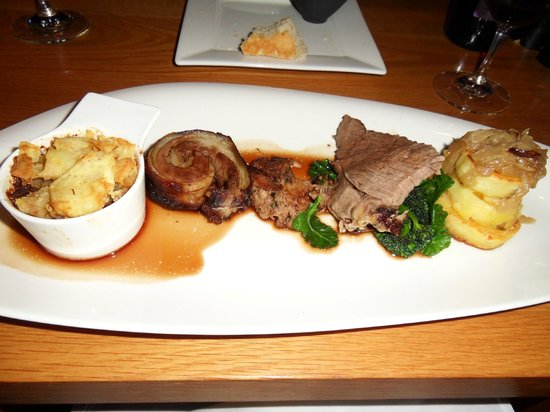 Salthouse Harbour Hotel: 4 cuts of mutton evening meal