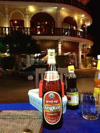 Ta Prohm Hotel:                   hotel behind angkor beer